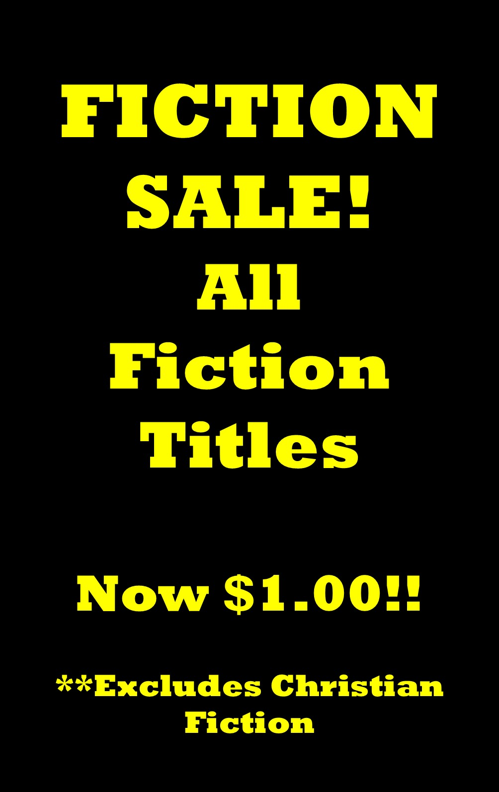 Fiction sale black